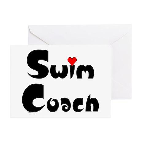 Swim Coach Heart Greeting Card