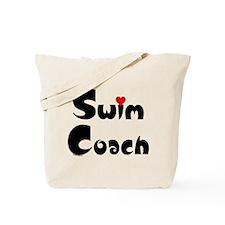 Swim Coach Heart Tote Bag