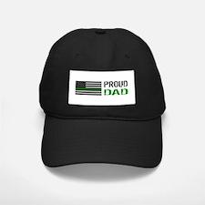 U.S. Flag Green Line: Proud D Baseball Hat