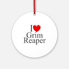 """""""I Love Grim Reaper"""" Ornament (Round)"""