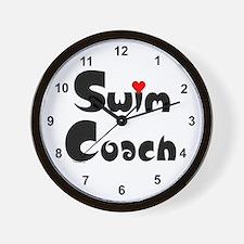 Swim Coach Heart Wall Clock