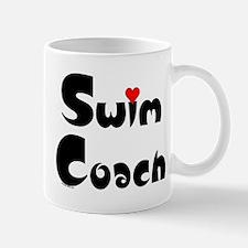 Swim Coach Heart Mug