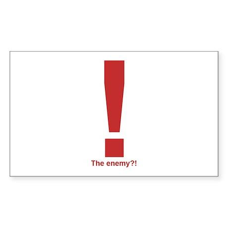 Enemy Alert Rectangle Sticker