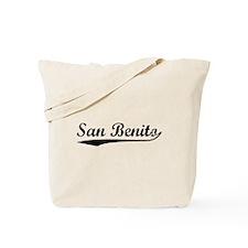 Vintage San Benito (Black) Tote Bag