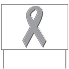 Gray Silver Awareness Ribbon Yard Sign