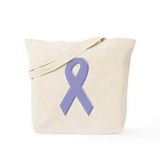 Lavender Awareness Ribbon Tote Bag