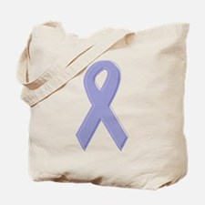 Lavender Awareness Ribbon Tote Bag