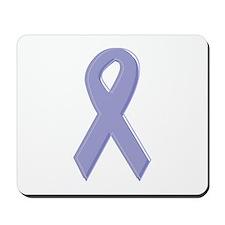 Lavender Awareness Ribbon Mousepad
