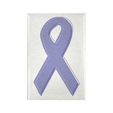 Lavender Awareness Ribbon Rectangle Magnet