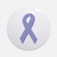 Lavender Awareness Ribbon Ornament (Round)