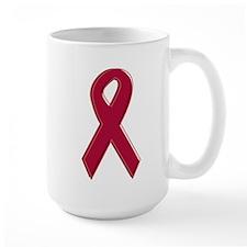 Burgundy Awareness Ribbon Mug