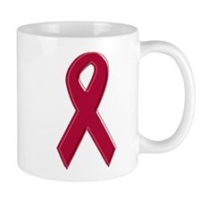 Burgundy Awareness Ribbon Small Mug