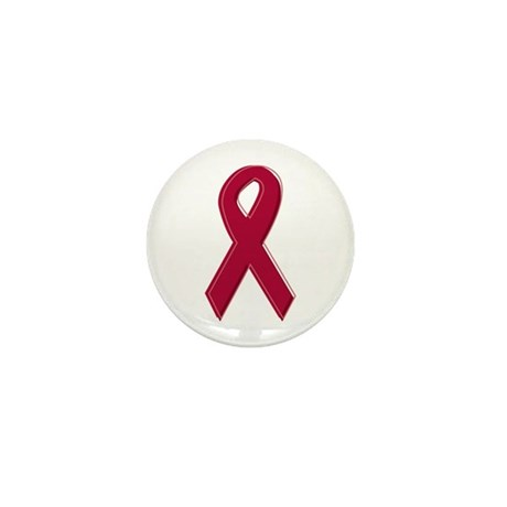 Burgundy Awareness Ribbon Mini Button (100 pack)