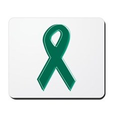 Green Awareness Ribbon Mousepad