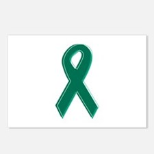 Green Awareness Ribbon Postcards (Package of 8)