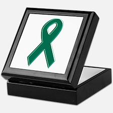 Green Awareness Ribbon Keepsake Box