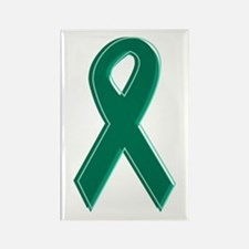 Green Awareness Ribbon Rectangle Magnet (10 pack)