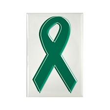 Green Awareness Ribbon Rectangle Magnet