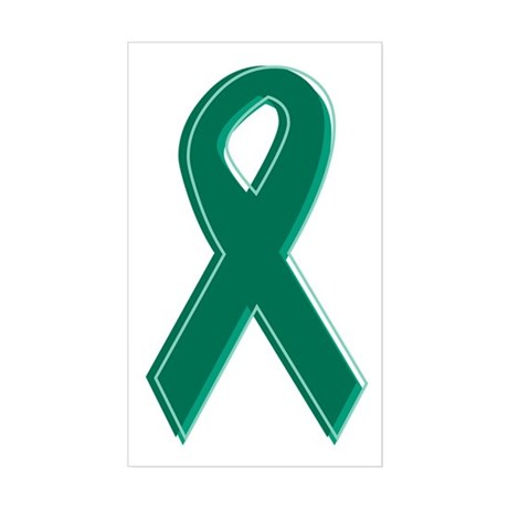 Green Awareness Ribbon Rectangle Sticker