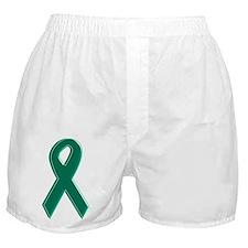 Green Awareness Ribbon Boxer Shorts