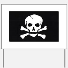 Jolly Roger Pirate Flag Yard Sign