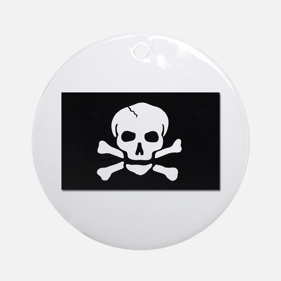 Jolly Roger Pirate Flag Ornament (Round)