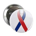 "Red, White & Blue Ribbon 2.25"" Button"