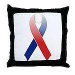 Red, White & Blue Ribbon Throw Pillow