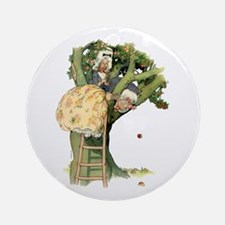 TWO OLD MAIDS UP A TREE Ornament (Round)