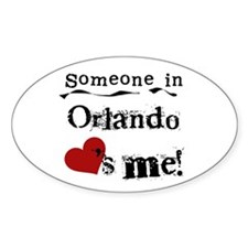 Orlando Loves Me Oval Decal