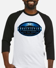 Crucifiction - Live For Jesus Baseball Jersey