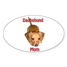 Doxies Mom Oval Decal