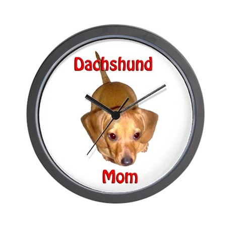 Doxies Mom Wall Clock