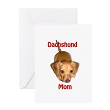 Doxies Mom Greeting Card