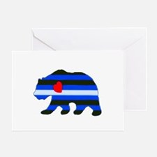 LEATHER PRIDE BEAR/LEATHER BEAR Greeting Card