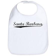 Vintage Santa Barb.. (Black) Bib