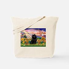 Autumn Angel and Schipperke. Tote Bag