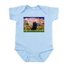 Autumn Angel and Schipperke. Infant Bodysuit