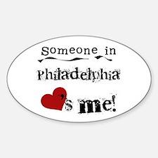 Philadelphia Loves Me Oval Decal