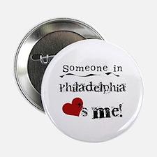 """Philadelphia Loves Me 2.25"""" Button"""