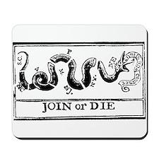 vintage join or die flag Mousepad