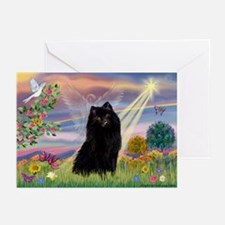 Cloud Angel & Schipperke Greeting Cards (Pk of 10