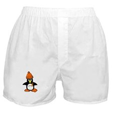 Winter Penguin 1 (Orange) Boxer Shorts