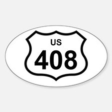 US 408 Oval Decal