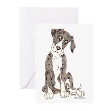 NMtMrl Pup Tilt Greeting Cards (Pk of 20)