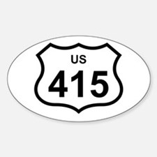 US 415 Oval Decal