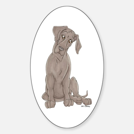 NBlu Pup Tilt Oval Decal