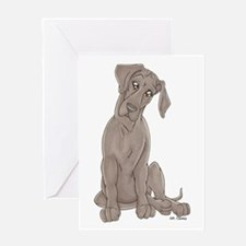 NBlu Pup Tilt Greeting Card