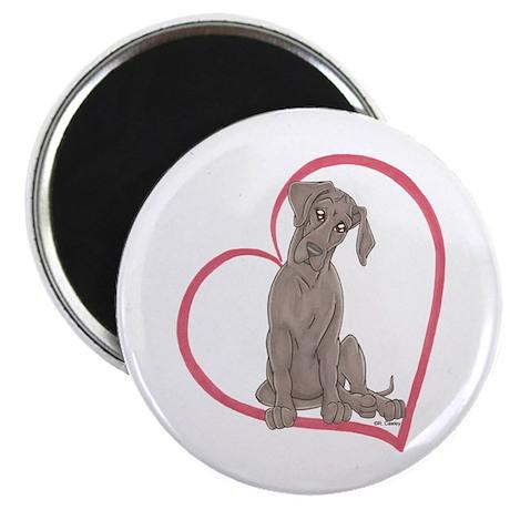 "NBlu Pup Heartline 2.25"" Magnet (100 pack)"