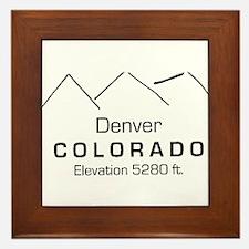 Denver Colorado Framed Tile